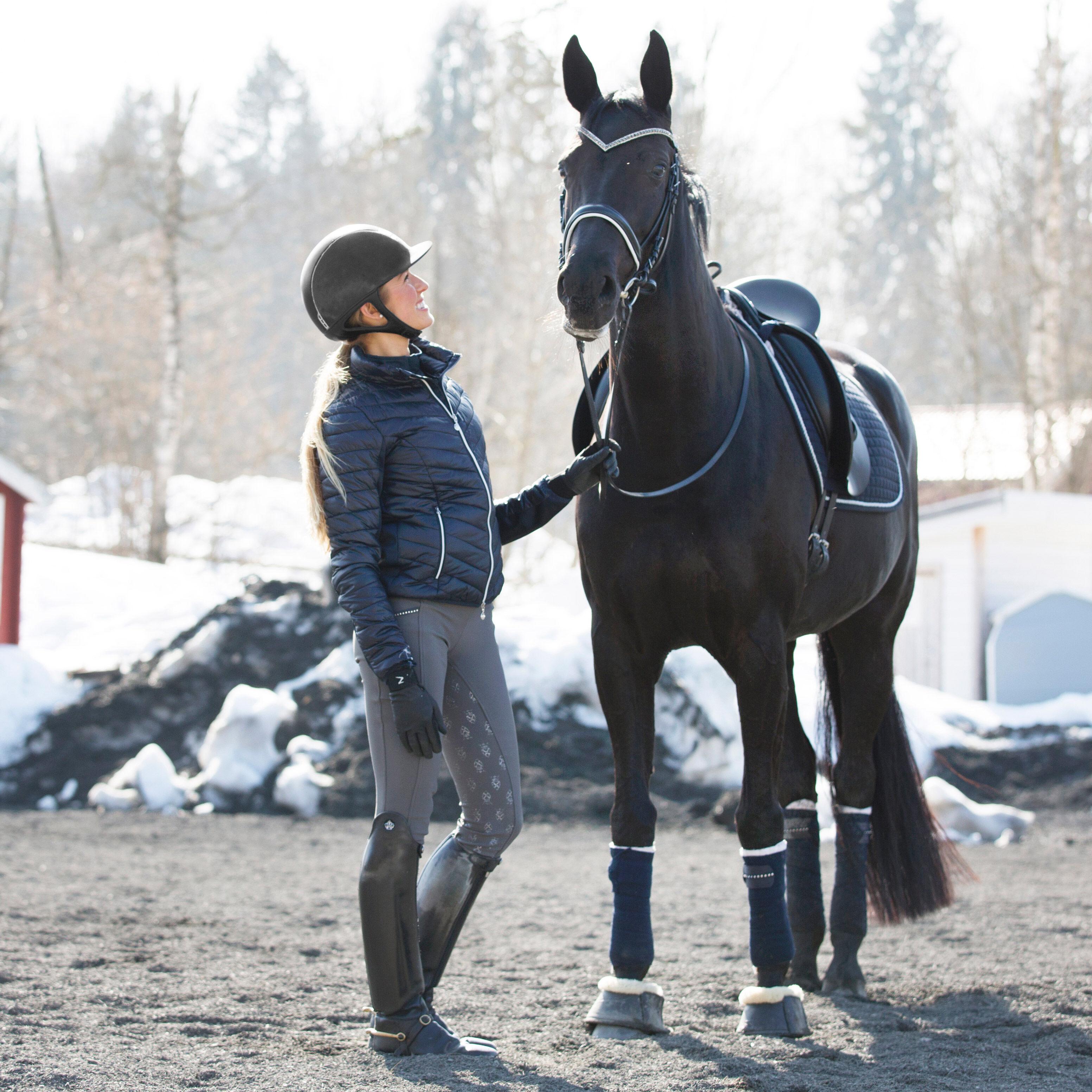 36219 Horze Crescendo Leah Women/'s Silicone Grip Riding Tights NEW