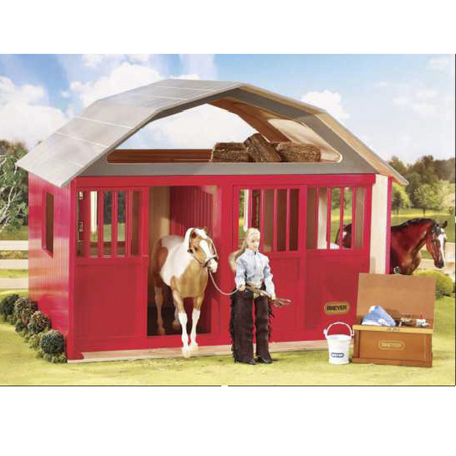 Breyer Traditional 1 9 Scale Deluxe Two Stall Barn Red Horze