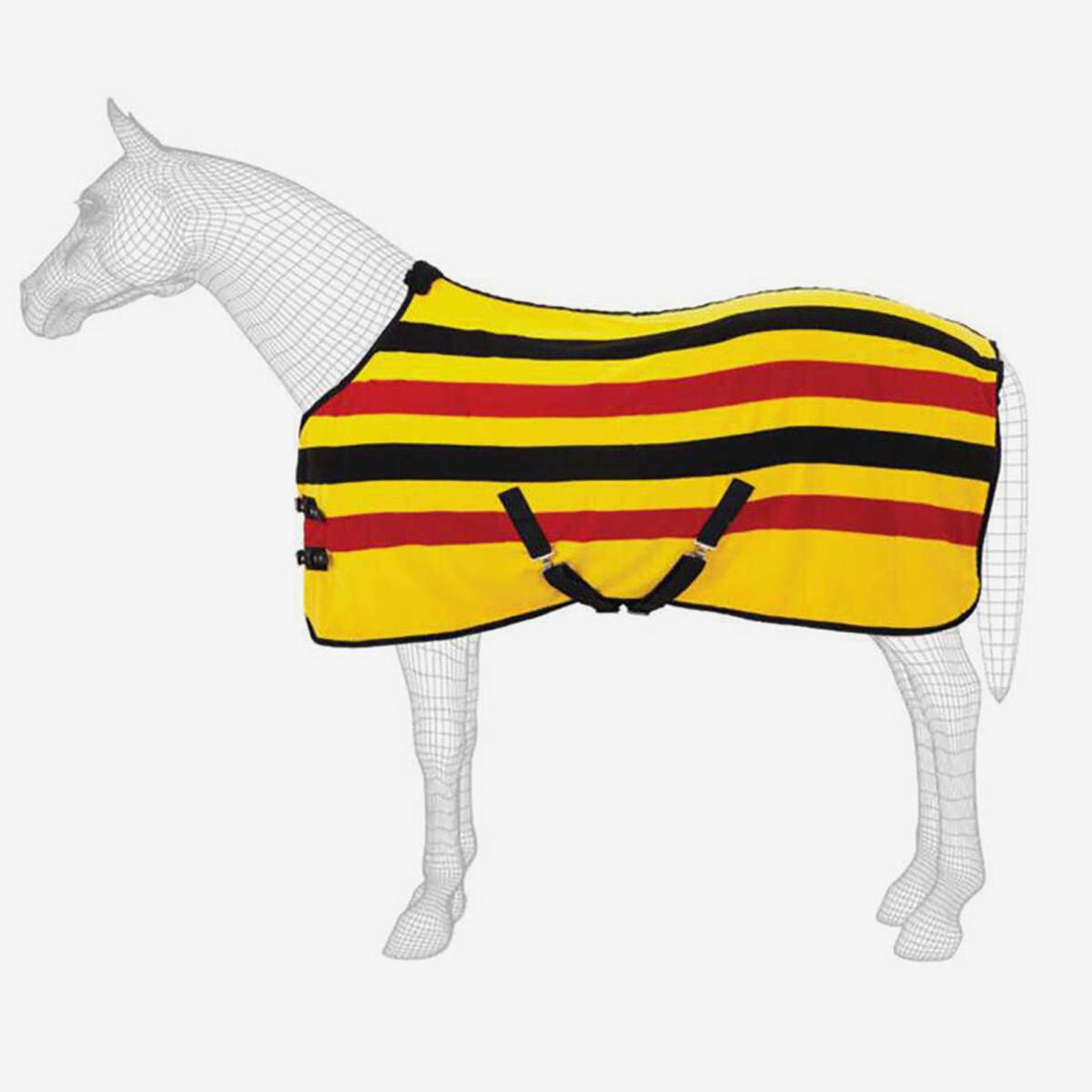 Masta Fleece Rug Ascot Stripe Suede