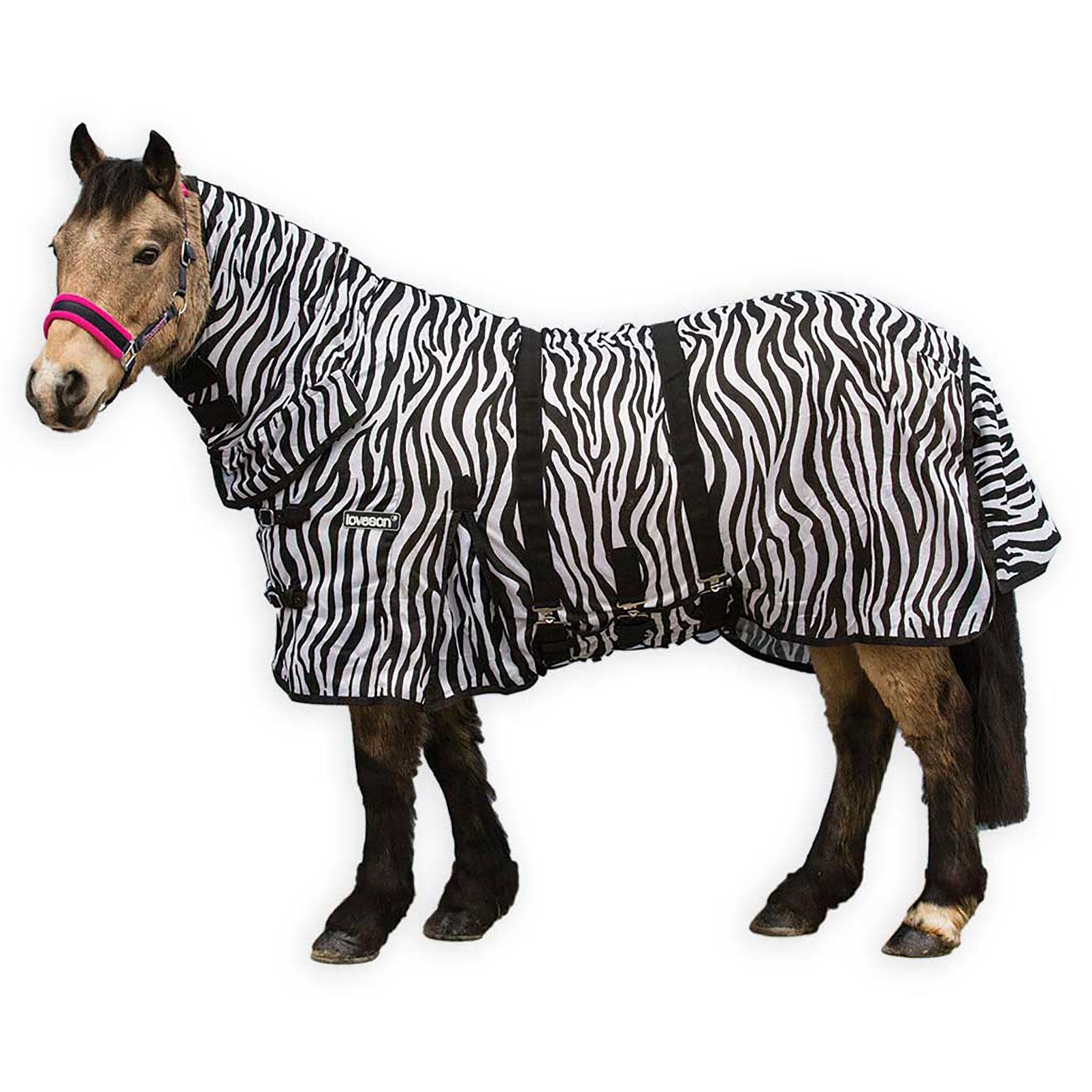 Loveson Zebra Fly Rug Horze