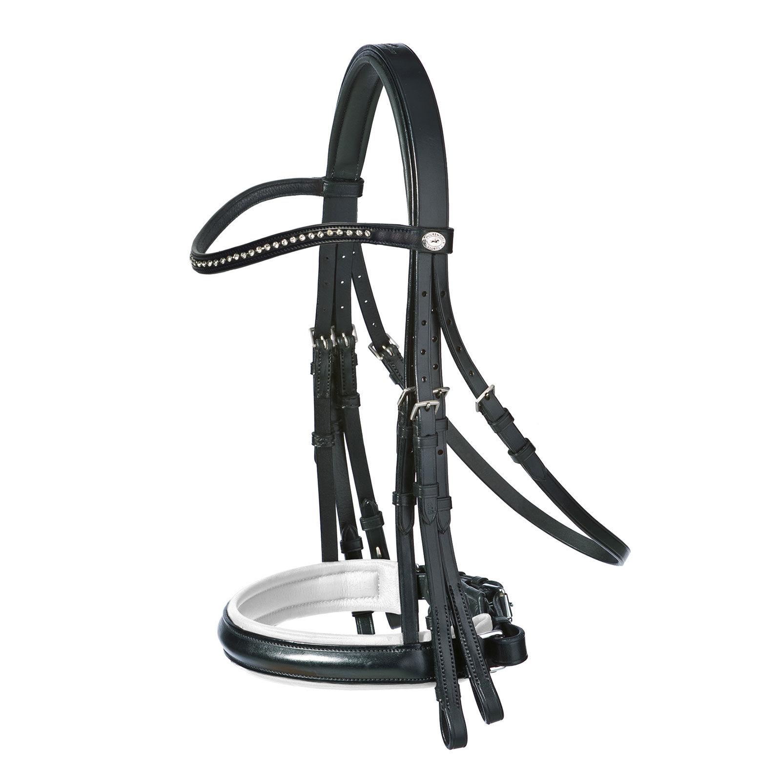 Schockemohle Double Bridle Reins Billets Leather Black