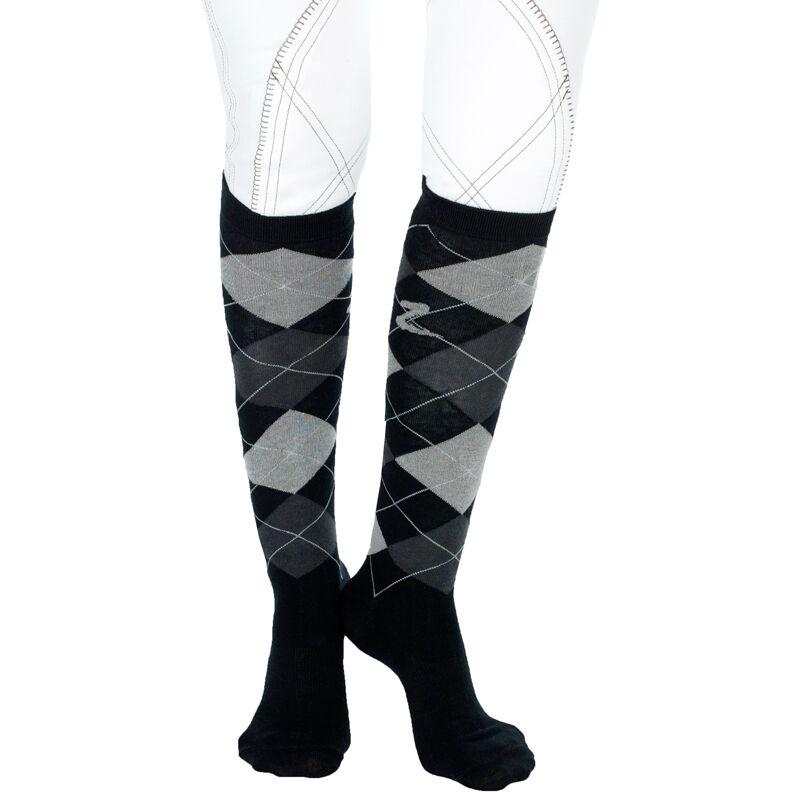 Cotton Blend Argyle Over The Knee Socks Diamond Over The Knee Socks