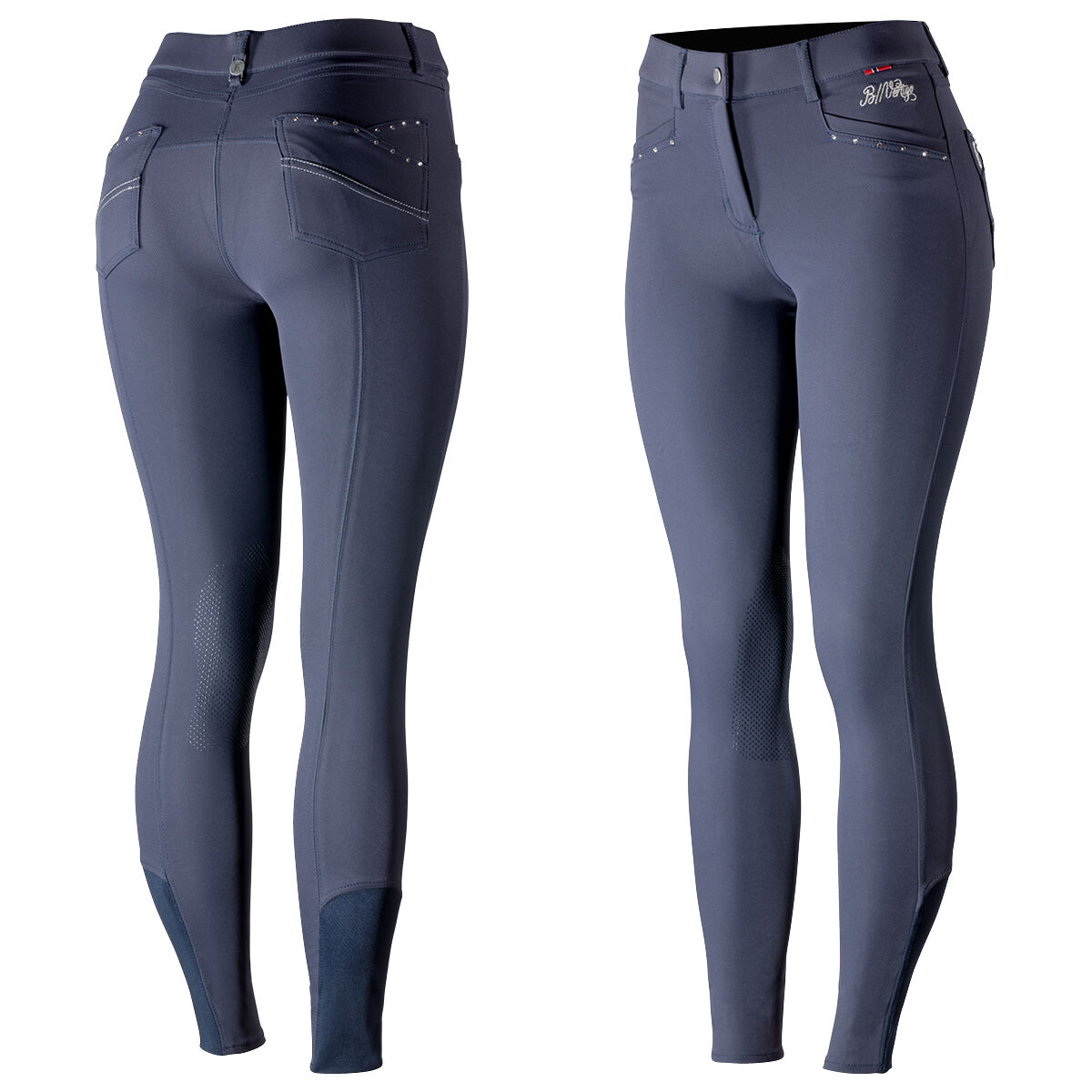 Dublin Thermal Womens Gel Knee Patch Breeches Black//Pink