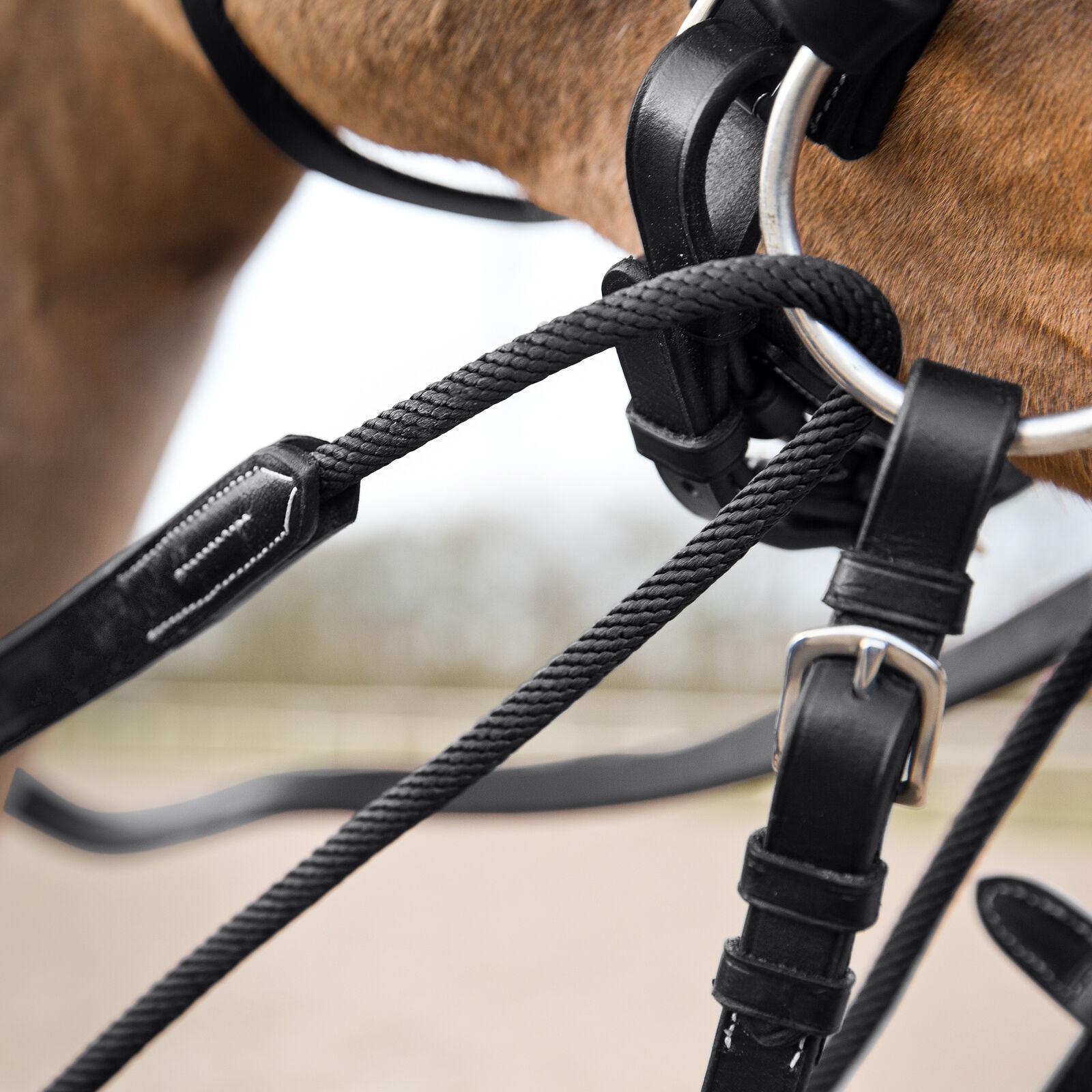 Horze Sparta Nylon//Leather Draw Reins Horze Equestrian