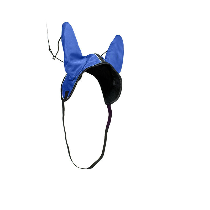 Finn-Tack Harness Racing Ear Cover Enstex with Wool Lining and Rubber Strap